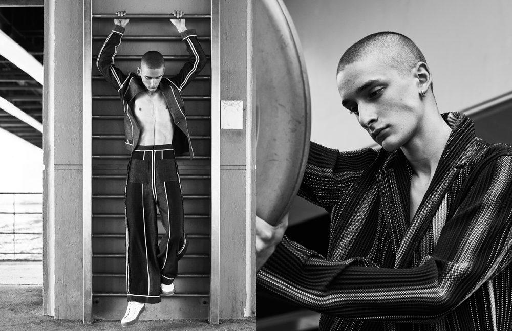 Pant & Jacket / Acne Studios Opposite Jacket / Issey Miyake