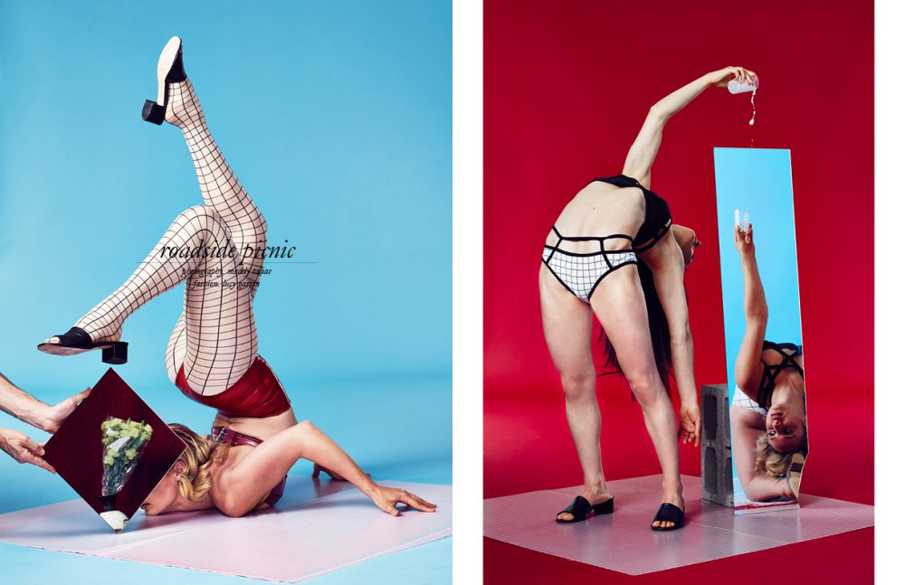Top & Bottoms / TABLEAUX VIVANTS Stocking / American Apparel Shoes / Maryam Nassir Zadeh Opposite Tops & Bottoms / Chromat Shoes / Maryam Nassir Zadeh