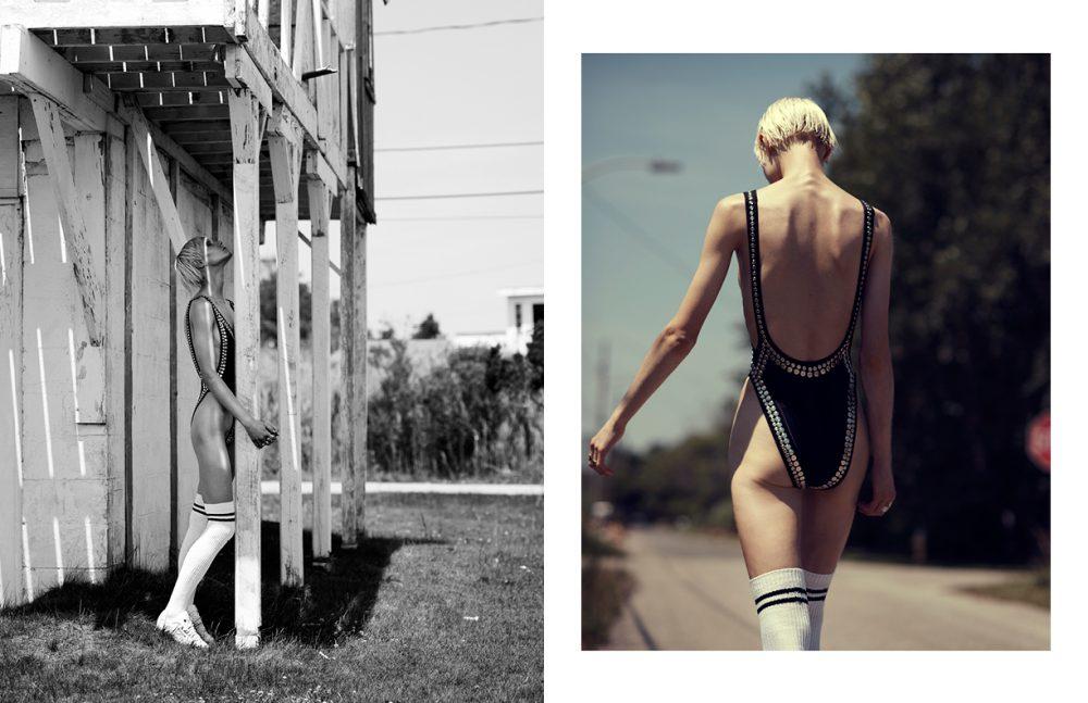Swimwear / Norma Kamali Shoes / Reebok Socks / Topshop