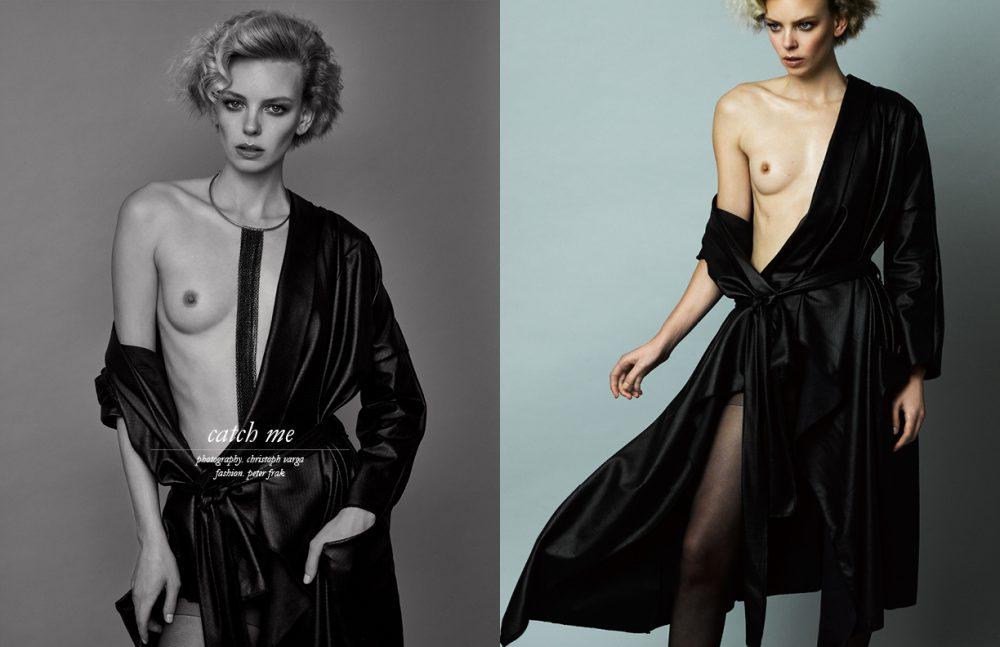 Coat / Thomas Hanisch Stockings / Intimissimi Necklace / H&M Opposite Coat / Thomas Hanisch Stockings / Intimissimi