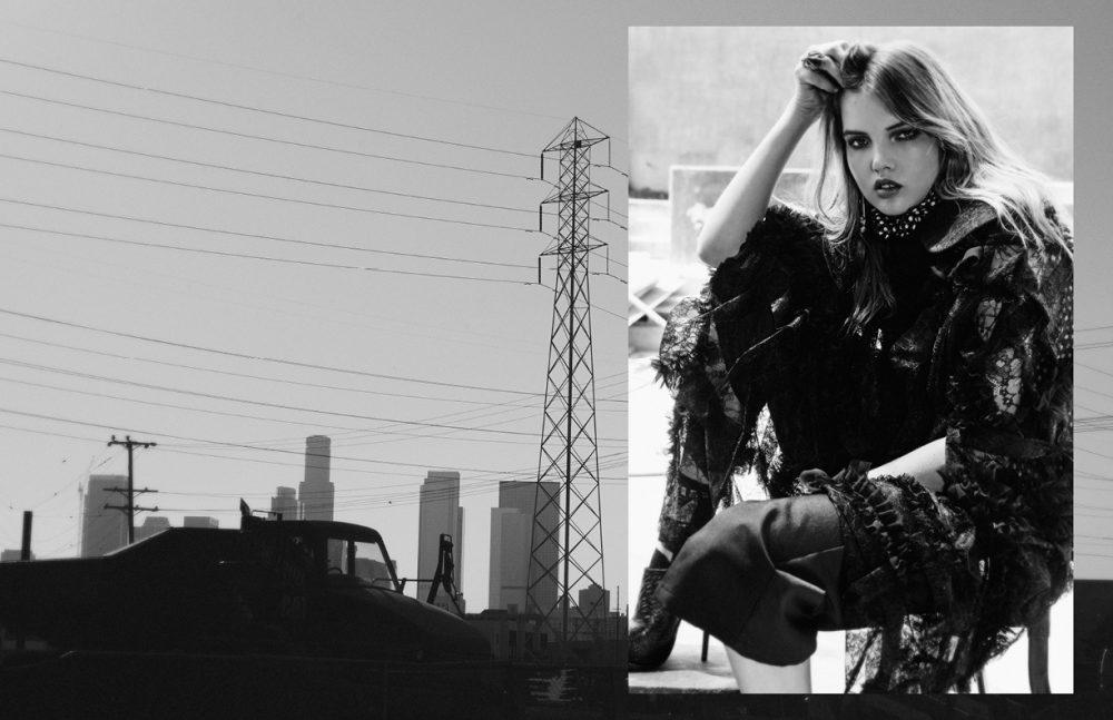 Blouse / Dora Abodi Poncho / Comme Des Garçons Shorts / Alice Mccall Ring / Lillian Shalom