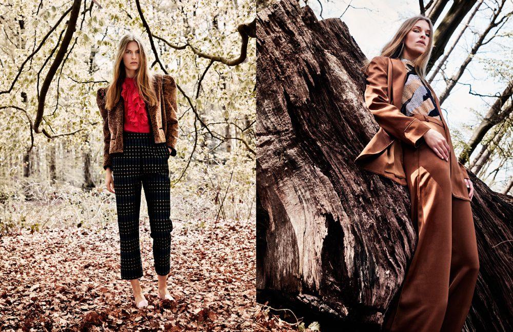Jacket & trousers / Isa Arfen Blouse / Zadig & Voltair Flats / Nicholas Kirkwood Opposite Suit / Zimmerman Blouse / Magda Butrym