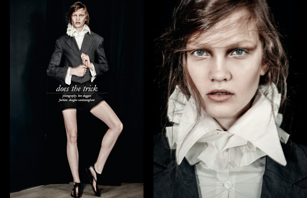 Blouse & collar / Shpetim Zero Blazer / Vivienne Westwood Shorts / The Squad Shoes / Junya Watanabe