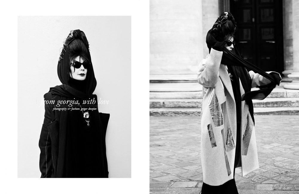 Diane wears Total look / Alexander Akhalkatsishvili Opposite Total look / Tiko Paksa