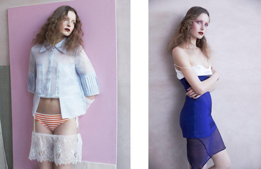 Shirt / YUZZO Gloves / Paper Dress Vintage Briefs / COS Skirt / Fleamadonna for Opening Ceremony Opposite Dress / Weruzo Cami Top / Pitchnigou