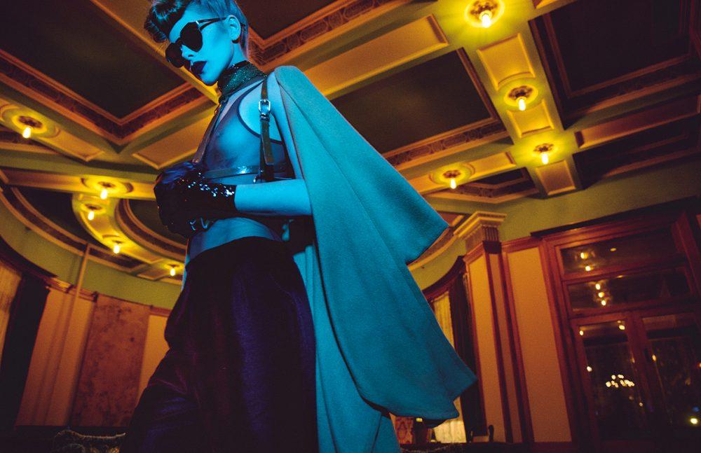 Sunglasses / Givenchy Bodysuit / Horn Harness / Zana Bayne Trousers / Constantin Line