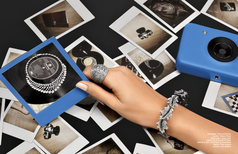 Ring / Adler Bracelet / Asprey Camera / Polaroid Jewellery in Polaroids / David Morris