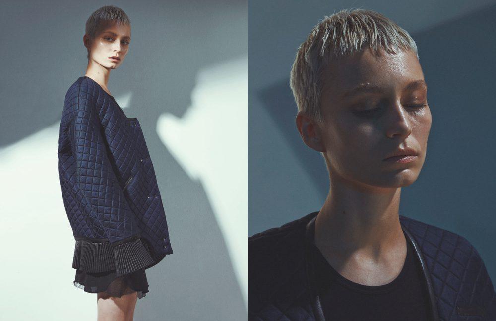 Jacket / Thomas Tait Bodysuit / Jil Sander Shorts / La Perla
