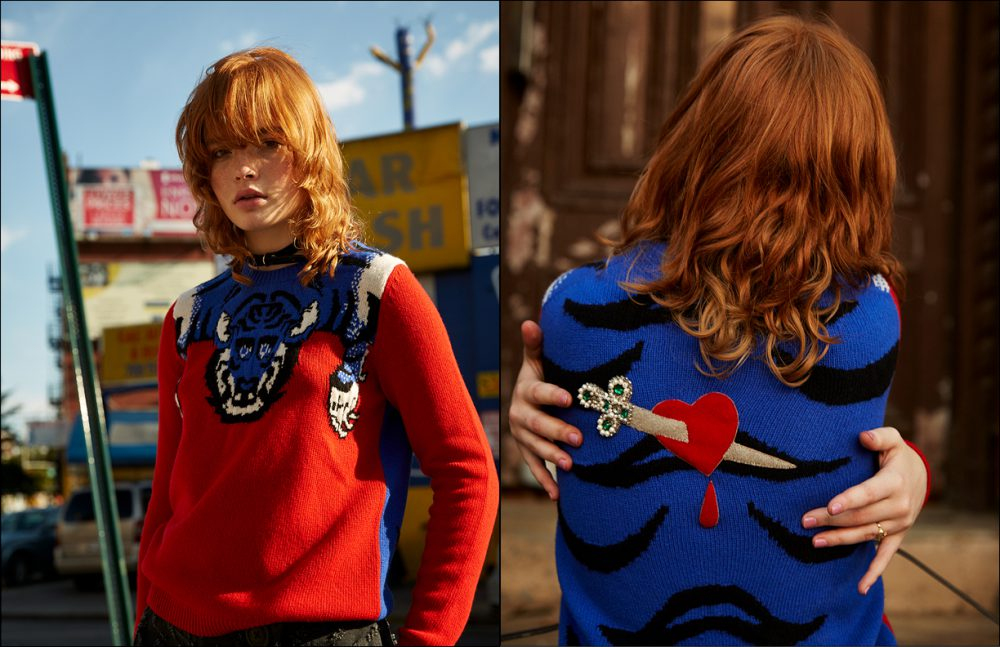 Sweater / Gucci Trousers / Vivienne Westwood Anglomania Opposite Sweater / Gucci