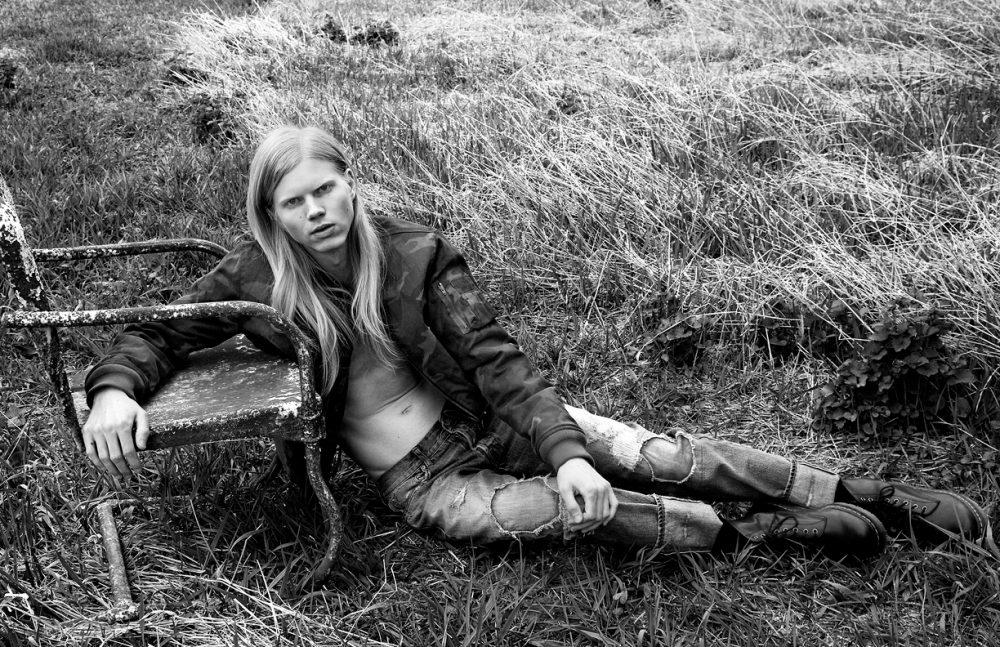 Jacket & jeans/ Hydrogen Boots / Dr. Martens