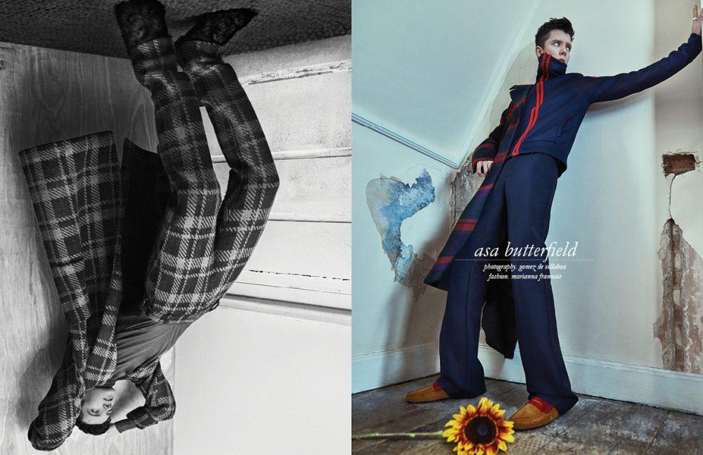 Left Coat, trousers & shoes / Fendi  Jumper / DAKS Opposite Total look / Burberry