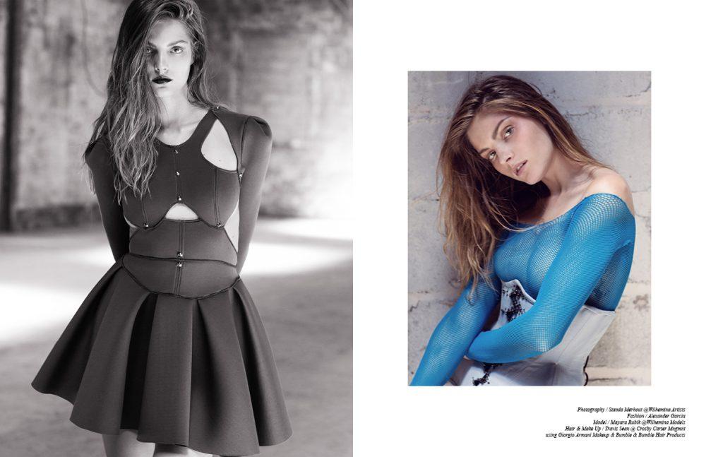 Dress / layana aguilar Opposite Corset / Garo Sparo Fishnets (worn as top) / Wolford