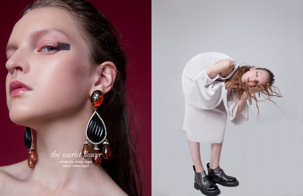 Earrings / Magia Di Gamma Opposite Dress / ZARA  Shoes / Baldinini  Choker / Magia Di Gamma