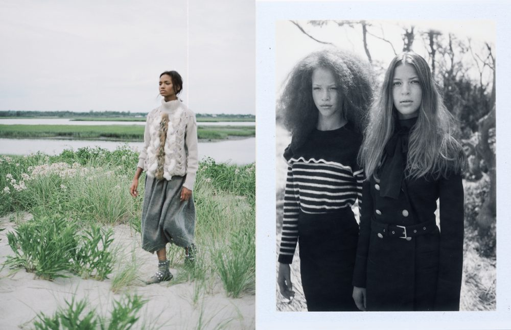 Julia wears Sweater / Belstaff Skirt / Alena Akhmadullina  Shoes / Ivy Kirzhner Opposite Total looks / Red Valentino