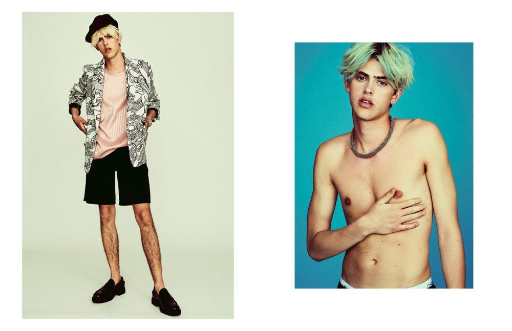 Blazer / Henrik Vibskov Tank, shorts & cap / Han Kjøbenhavn  Loafers / Vagabond Bracelet / BITTE KAI RAND Opposite Necklace / BITTE KAI RAND  Underwear / Model's Own
