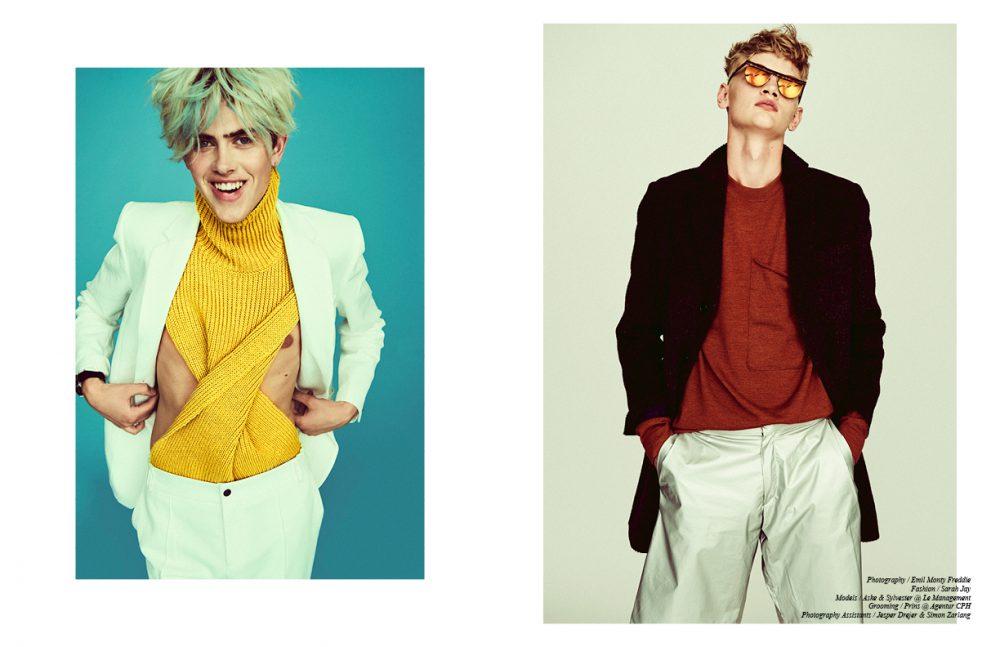 Suit jacket & trousers / Soulland  Dickie / Weekday Bracelet / BITTE KAI RAND Opposite Overcoat / SAND Copenhagen  Jumper / Libertine-Libertine  Shorts / Ellen Pedersen  Sunglasses / Han Kjøbenhavn