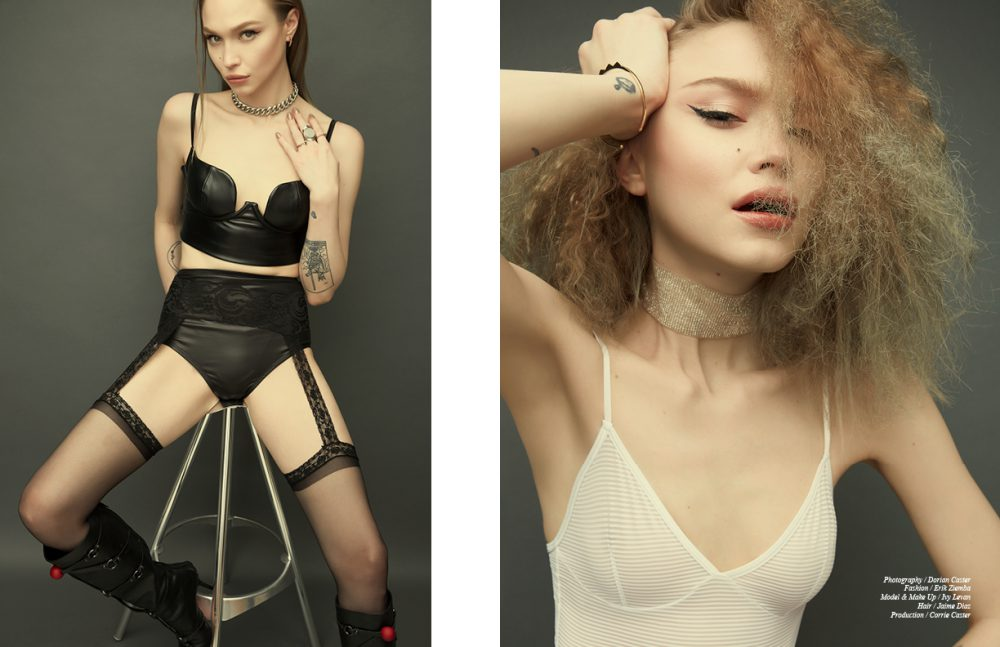Earrings / Elisabeth Bell Opposite Leotard / American Apparel