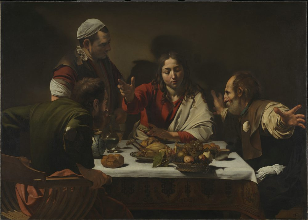 Michelangelo Merisi da Caravaggio  The Supper at Emmaus, 1601 Oil on canvas  141 x 196.2 cm  The National Gallery, London © The National Gallery, London