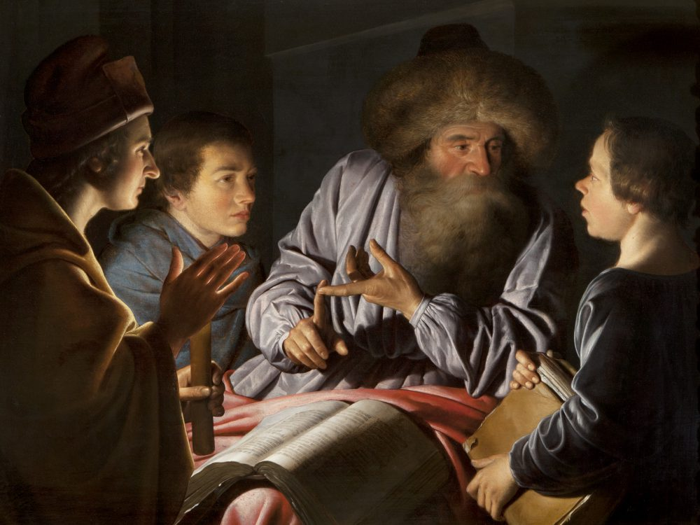 Willem van der Vliet A Philosopher and his Pupils, 1626 Oil on panel 83.8 x 113 cm © National Trust for Scotland, Brodie Castle