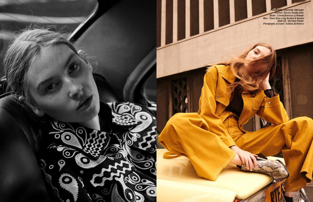 Jumpsuit / Holly Fulton Opposite Jacket & trousers / JH. ZANE  Body / Kriss Soonik  Boots / Sol Sana