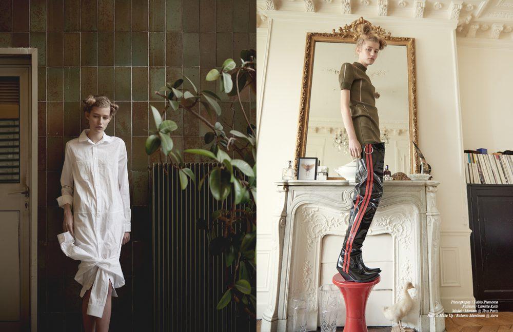 Shirt / Courrèges Opposite Dress / Courrèges  Boots / Vetements