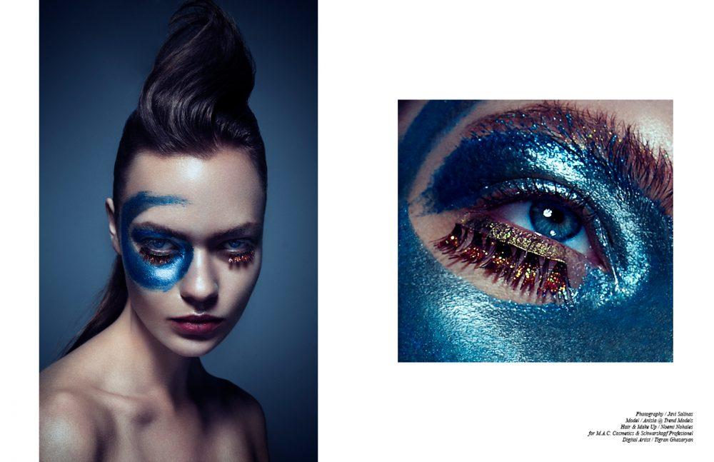 Pigment Reflects purple duo & silver / M.A.C Cosmetics  Eye lashes / Fantasy Lipstick / APIVITA