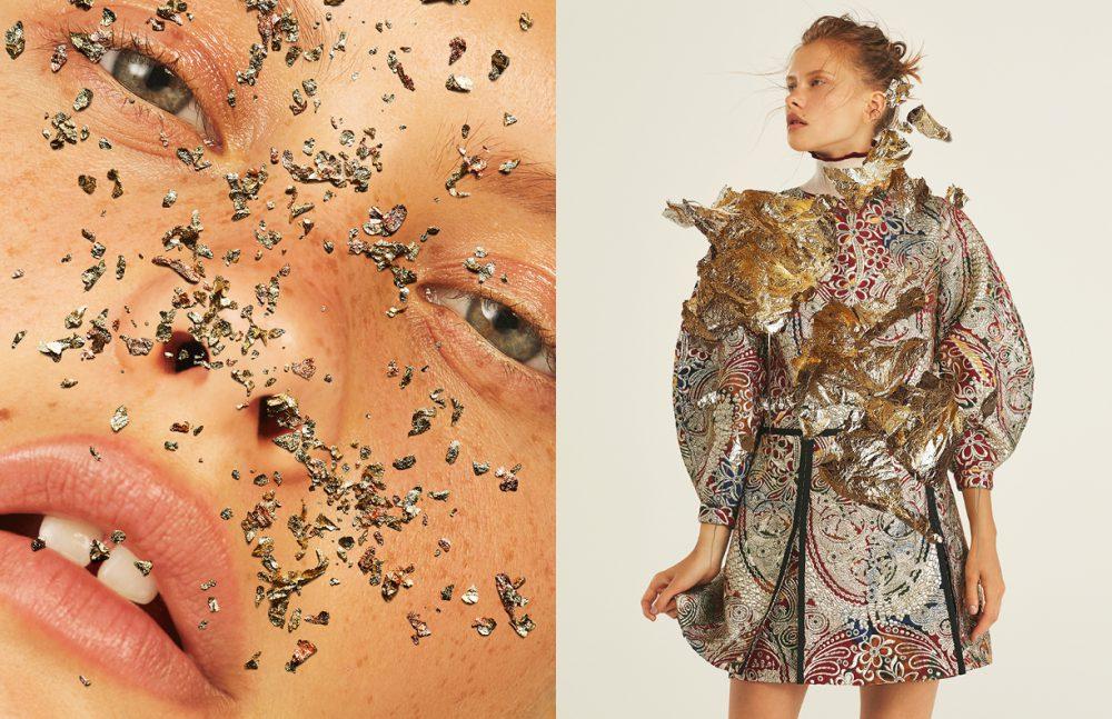 Earrings / Saskia Diez  Turtleneck Top / Fendi  Dress / Burberry Prorsum