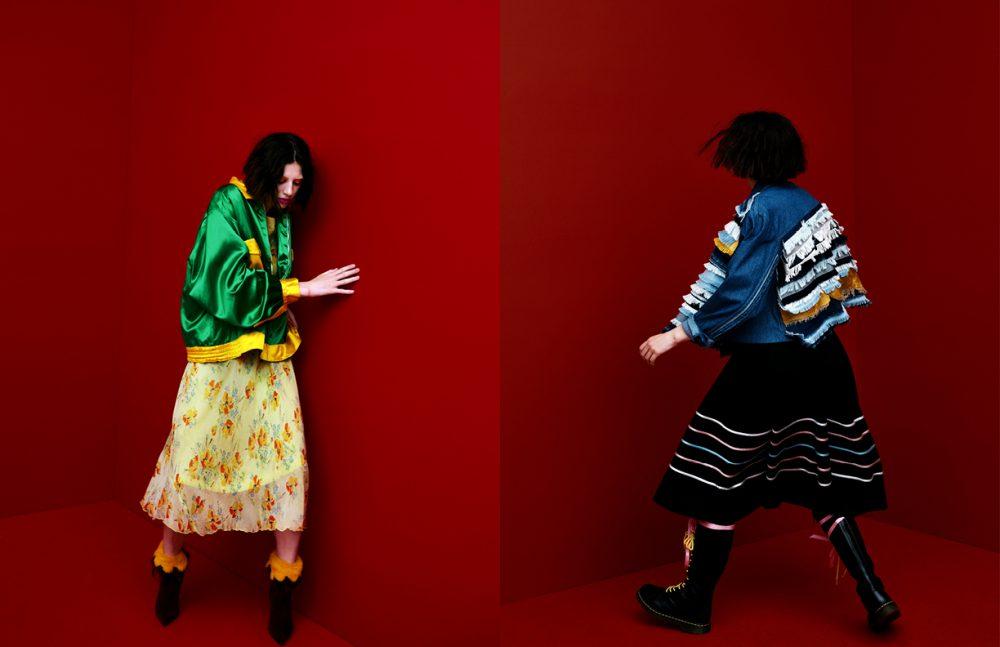Jacket & dress / Scarlet Rage Vintage  Boots / Manolo Blahnik Opposite Jacket / Jazz Grant  Skirt / Scarlet Rage Vintage  Boots / Dr. Martens