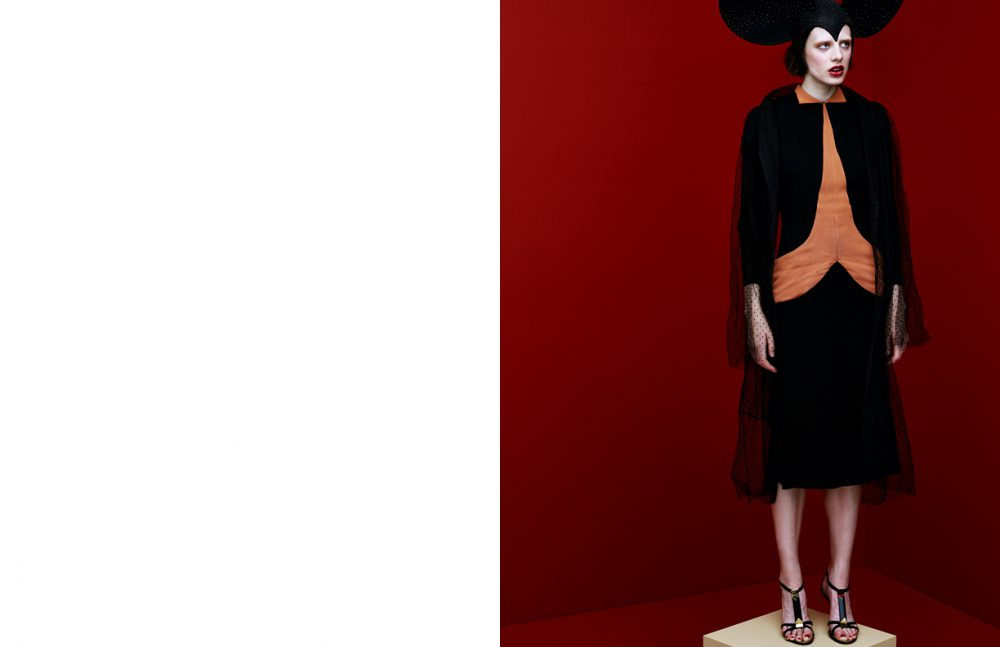 Hat / Philip Treacy Dress / Scarlet Rage Vintage  Coat / Jayne Pierson  Shoes / Giuseppe Zanotti