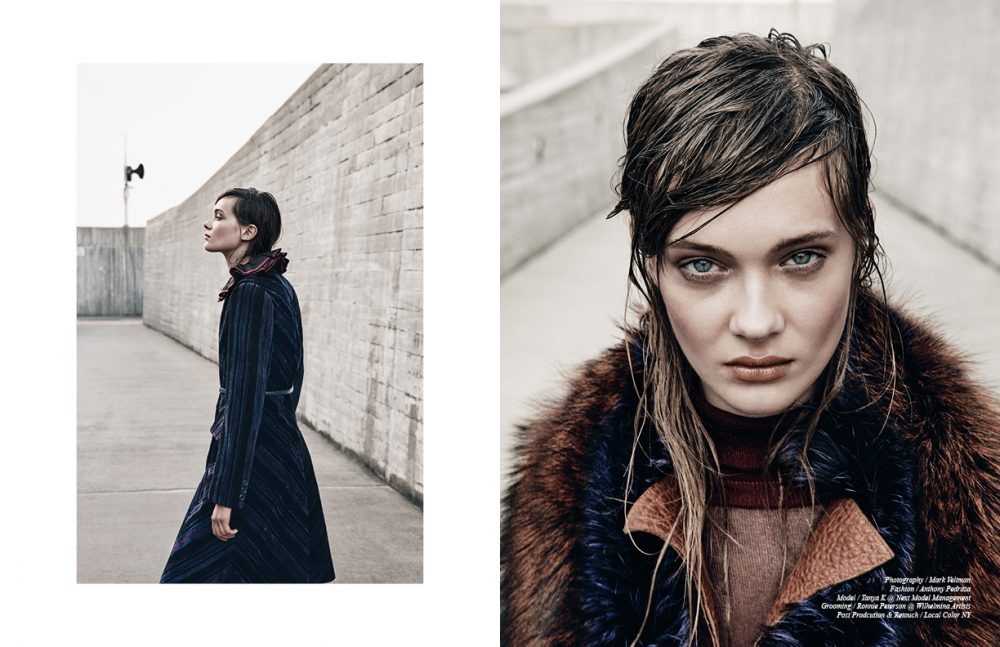 Total look / Jill Stuart Opposite Jacket & fur collar / Sally LaPointe  Turtleneck / Jill Stuart