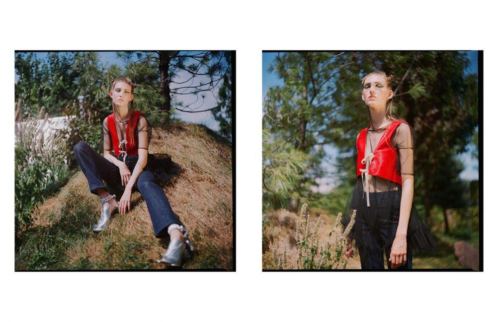 Jeans / LOROD Dress / Kelsey Randall Vest / AUTIE Shoes / Annie Li