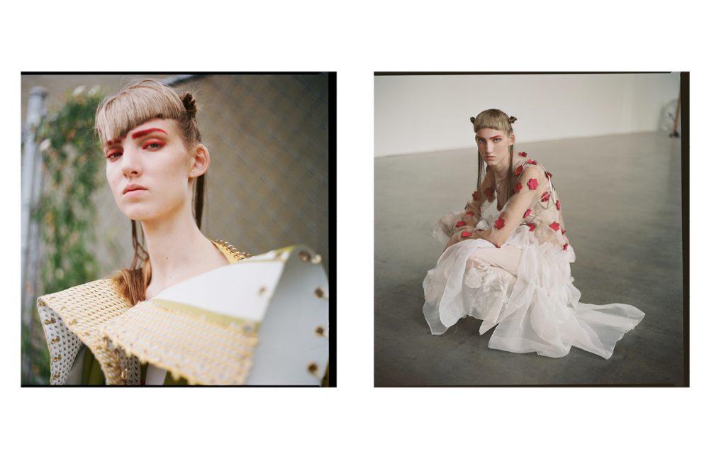 Coat / Han Wen Opposite  Dress / ALEJANDRA BURGUETTE Shirt / Annie Li Bra / WXYZ