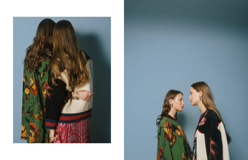 Jacket / Antonio Marras Jumper & Skirt / Gucci Jewels / Bernard Delettrez