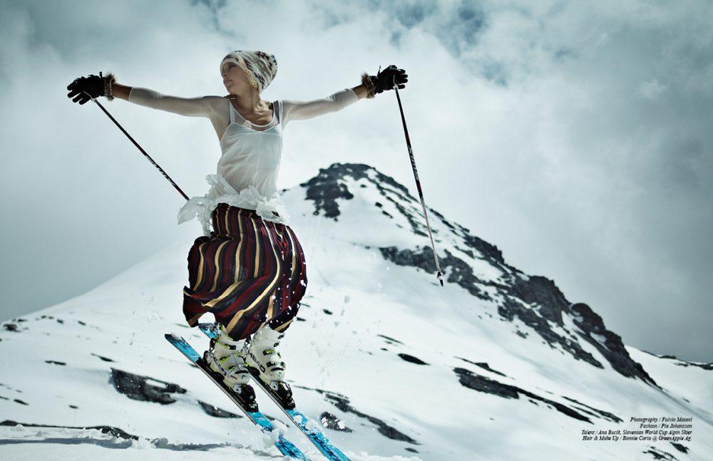 Hat / Tak.Ori Dress / Francesco Scognamiglio  Jumpsuit / Emilio Cavallini  Skirt / Otto D'ame Gloves / Cairn Abyss