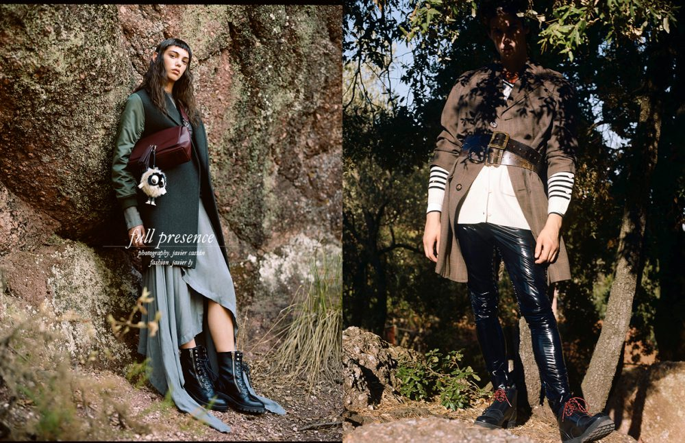 Coat & Boots / Sandro Paris Dress / LOEWE Bag / Essentiel Opposite Shirt / Torras Cardigan / MM6 Trousers / Wendy&Jim Vintage Coat & Belts / Stylist's Own Boots / Dior