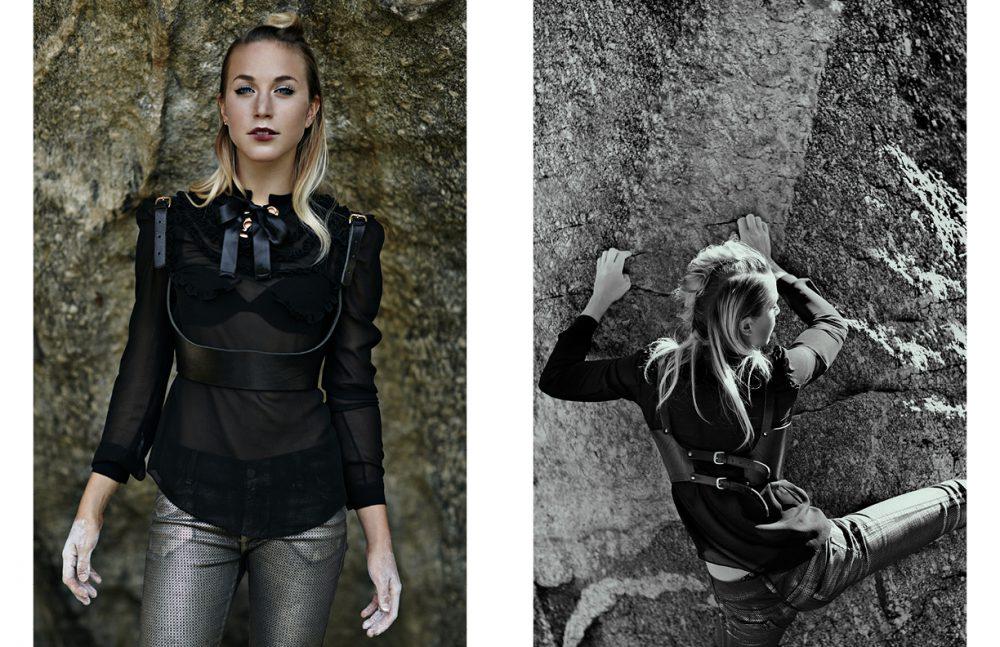 Shirt / Francesco Scognamiglio Balconette  Harness / ABSIDEM  Troursers / Manila Grace