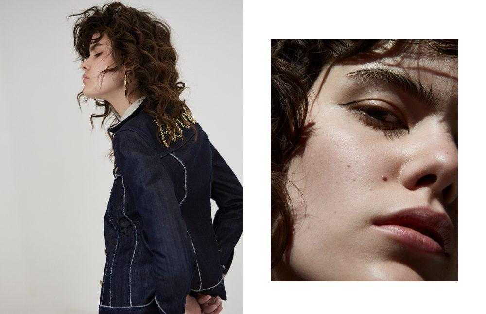 Top / Stella McCartney Jacket / Pierre Balmain  Earrings / Marni Rings / Calvin Klein, Bow Label
