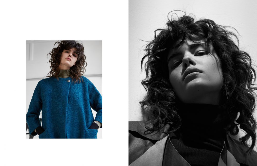 Turtleneck / By Malene Birger  Jacket / Hugo Boss Earrings / Dior Opposite Turtleneck / Dior  Coat / By Malene Birger  Earrings / Marni