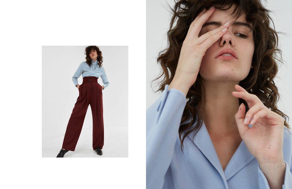 Shirt / GANT Trousers / By Malene Birger  Earrings / Céline Bracelet & earrings / Holpp  Bracelet / Calvin Klein  Shoes / ATP Opposite Jacket / Hugo Boss