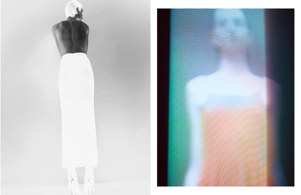 Skirt / 1980's Alaïa  Shoes / Balmain Opposite Top / CHANEL