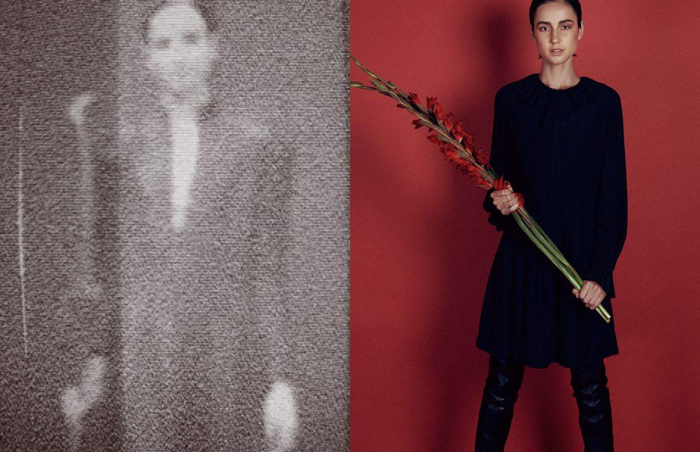 Dress / 1970's Guy Laroche Opposite Dress  / 1970's Yves Saint Laurent   Thigh high boots / Balmain