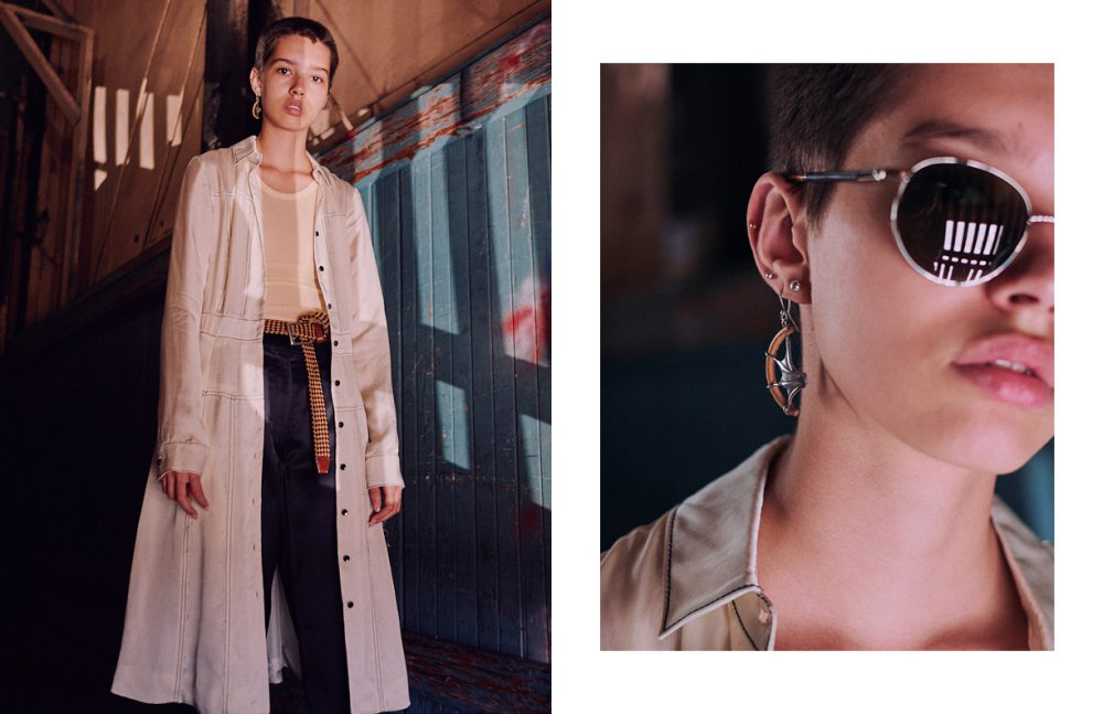 Dress / Creatures of the Wind Trousers / Christophe Lemaire  Top, belt, & earring / Vintage