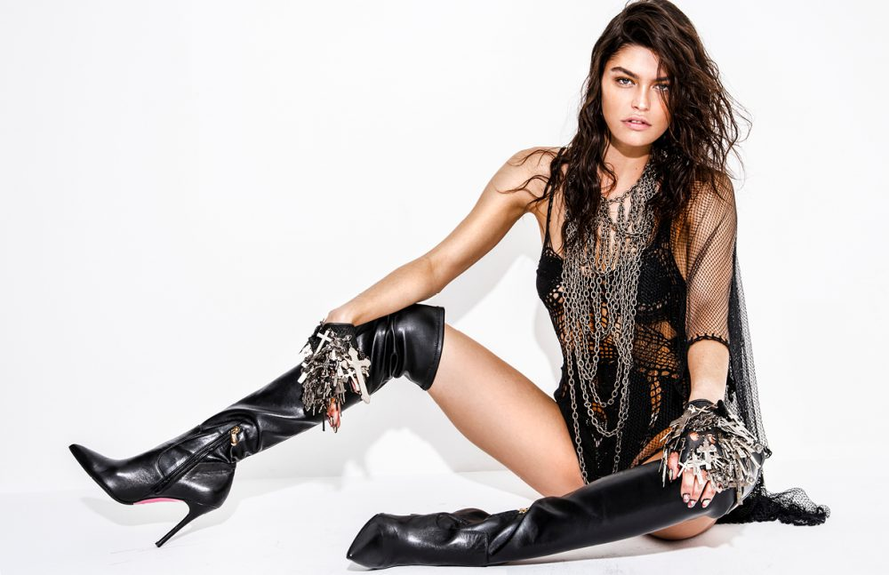 Necklace & Gloves / Gasoline Glamour Body Suit / Augustin Teboul Boots / Luciano Padovan