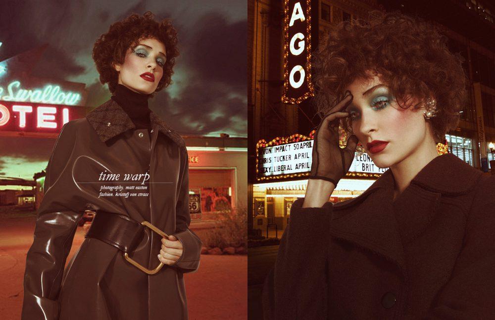 Rollneck / Sessùn Coat & Belt / Acne Studios Opposite Coat / Mulberry Gloves / Cornelia James Earrings / Gillian Horsup at Grays Antiques