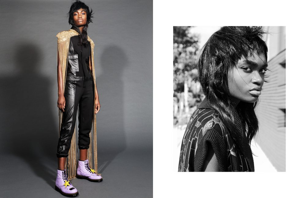 Onesie / Xuly.Bët Chain Mail Vest / Laurel DeWitt Boots / Dr. Martens Opposite Vest / Francesca Liberatore