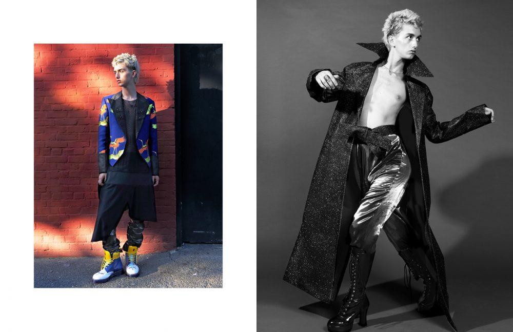 Shirt / Geoffrey Mac Jacket with Tails & Patent Leather Jodhpurs / Malan Breton Shoes / Dr. Martens Opposite Belt / Landeros Trousers / Collectionsbk Boots / Funtasma