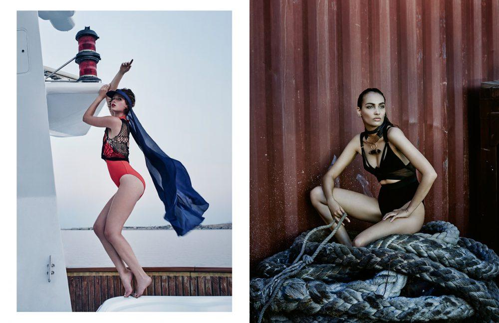 Swimsuit / Eres Top / Augustin Teboul Sun Visor / LACOSTE Opposite  Bodysuit / Alexandre Vauthier Necklace / Uriel Salas