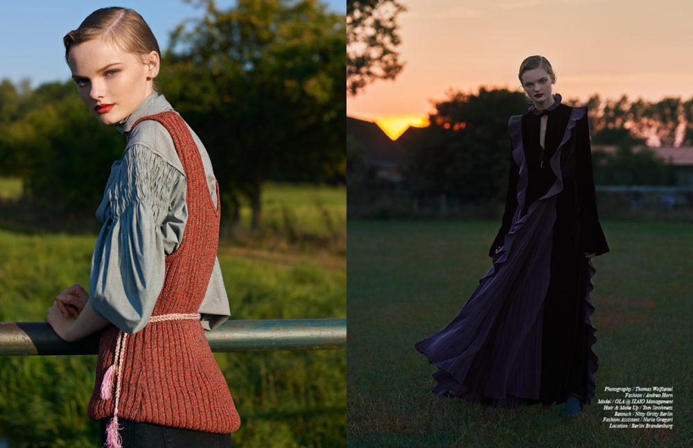 Blouse / WUNDERKIND Vest / Aeron Belt / Missoni Jeans / SANDRO Opposite Dress, Leg Warmers & Shoes / Fendi
