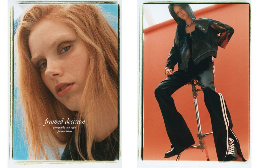 Shirt / Stella McCartney Jacket / AMBUSH® Opposite Jacket / Y-3 Top / OFF-WHITE C/O VIRGIL ABLOH Trousers / rag & bone Necklace / Joomi Lim Bracelet / 666 Harajuku Boots / Dr. Martens
