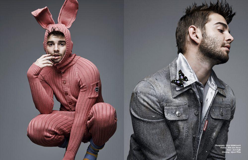 Bunny Suit / BLAMO Socks / American Apparel Opposite Shirt / Enfants Riches Déprimés Jacket / Dsquared2